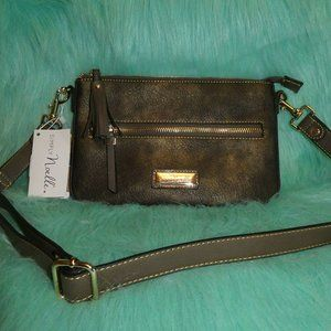 Simply Noelle Crossbody Gold/Green Colors NWT